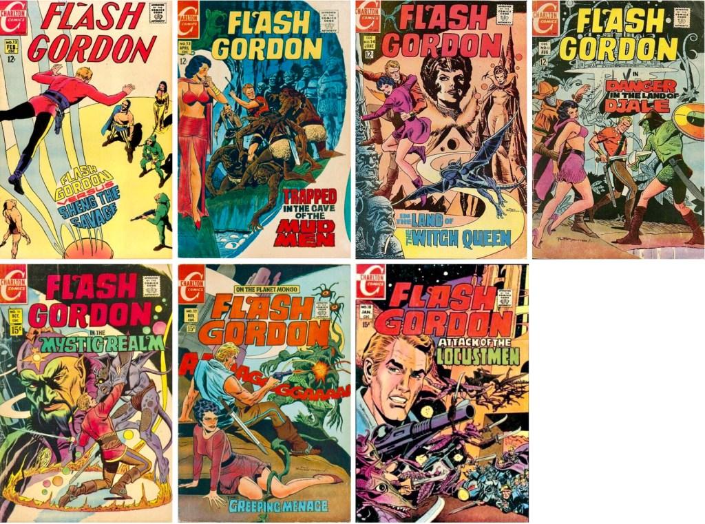 Charlton utgav ytterligare sju nummer med Flash Gordon (1969-70). ©Charlton