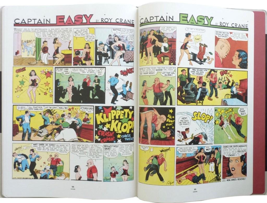 Ett uppslag ur Captain Easy, Soldier of Fortune: The Complete Sunday Newspaper Strips Vol. 2. ©NEA