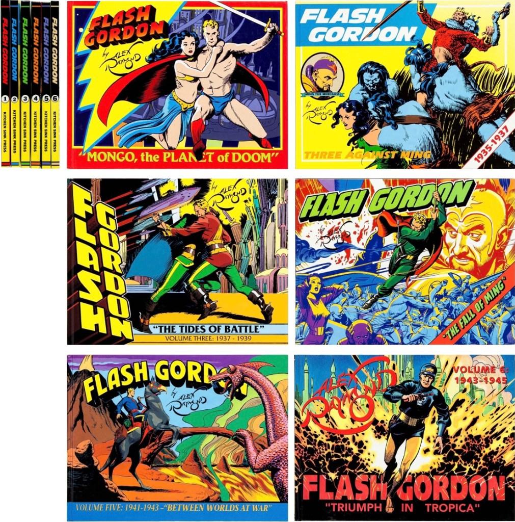 Omslag till Flash Gordon av Alex Raymond (1990-93). ©Kitchen Sink