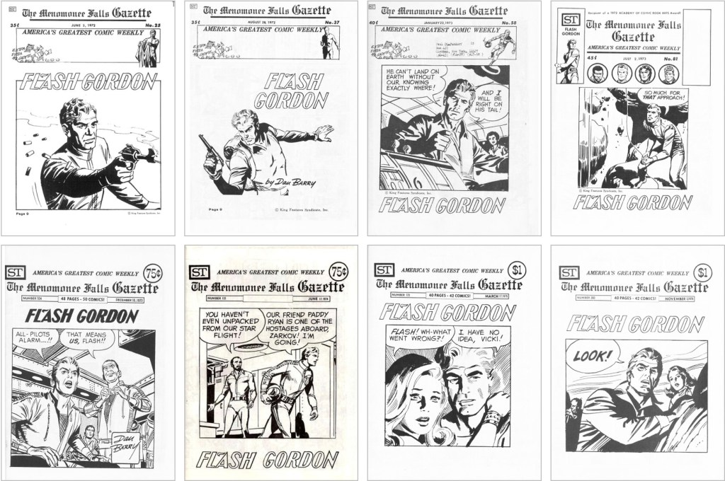 Flash Gordon fanns med på omslaget till MFG #25, #37, #58, #81, #104, #131, #170 och #203. ©Street Enterprises