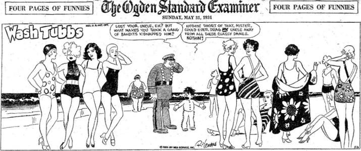 En söndagsstripp från 31 maj 1931 visar att Crane lärde sig rita vackra kvinnor. ©NEA
