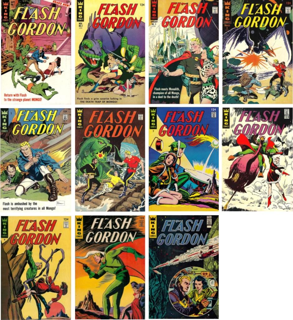 Det utkom elva nummer med Flash Gordon från King Comics. ©KFS