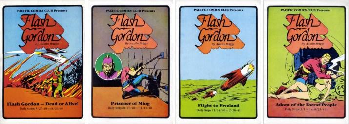Omslag till Pacific Comics Club Presents Flash Gordon by Austin Briggs (1981). ©Pacific