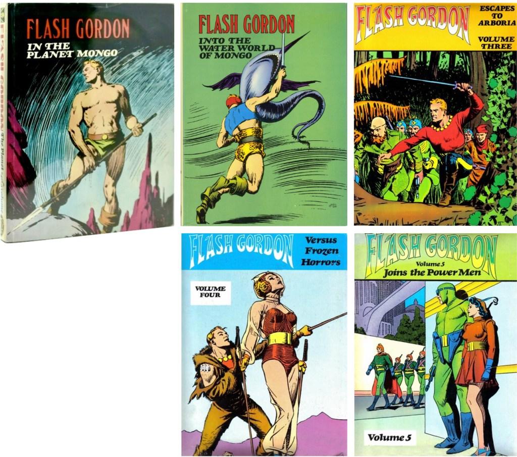 The Flash Gordon Color Library (1974-78) omfattade fem volymer av söndagsserien i färg. ©Nostalgia
