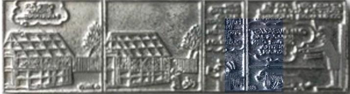 En tryckplåt med Laban, med inklippt närbild på numreringen. ©Daily Mail