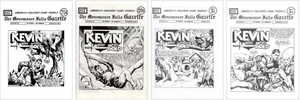 Kevin The Bold fanns med på omslaget till MFG #109, #150, #182 och #215. ©Street Enterprises