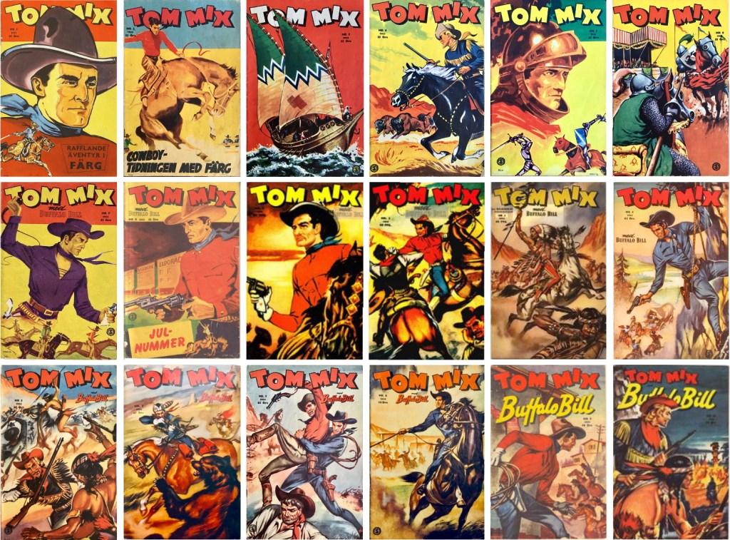 Omslag till Tom Mix som innehöll Roland den djärve (1953-54). ©Serieförlaget