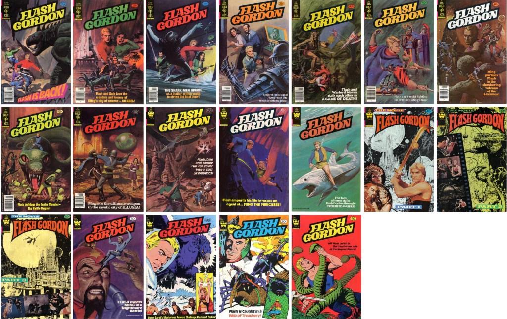 Omslag till Flash Gordon #19-37 (1978-82). ©Western