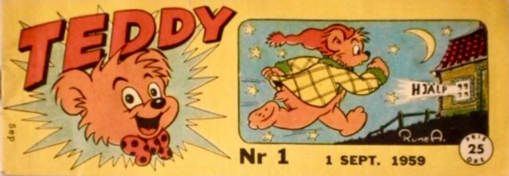 Omslag till första numret av Teddy, nr 1, 1959. ©Å&Å