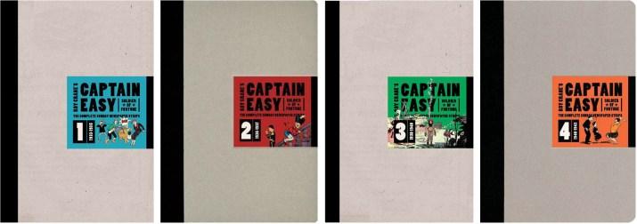 Omslag till Captain Easy, Soldier of Fortune: The Complete Sunday Newspaper Strips Vol. 1-4. © Fantagraphics