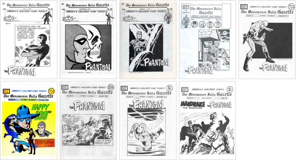 Flash Gordon fanns med på omslaget till MFG #22, #40, #60, #84, #98, #100, #161, #196 och #223. ©Street Enterprises