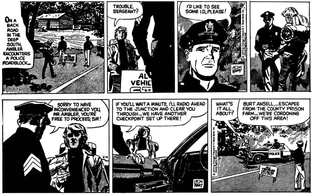 Inledande två dagsstrippar ur episoden från 11-12 juni 1973. ©CTNYNS