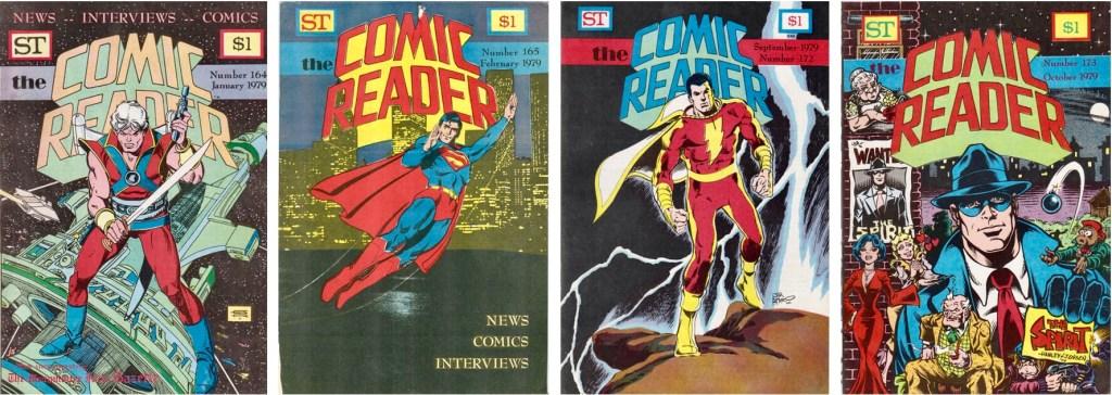Omslag till Comic Reader #164-165 och #172-173 (1979). ©Street Enterprises
