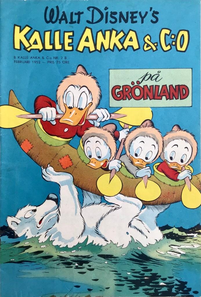 Omslag till Kalle Anka & C:o nr 2B, 1952. ©Richters/Disney