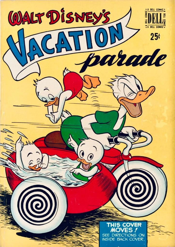 Omslag till Vacation Parade #1 (1950). ©Dell/Disney