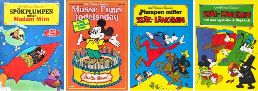 Walt Disney's klassiker nr 1, 1978, nr 1, 1979, nr 3 och 4, 1981 innehöll serier av Paul Murry. ©Hemmets Journal/Disney
