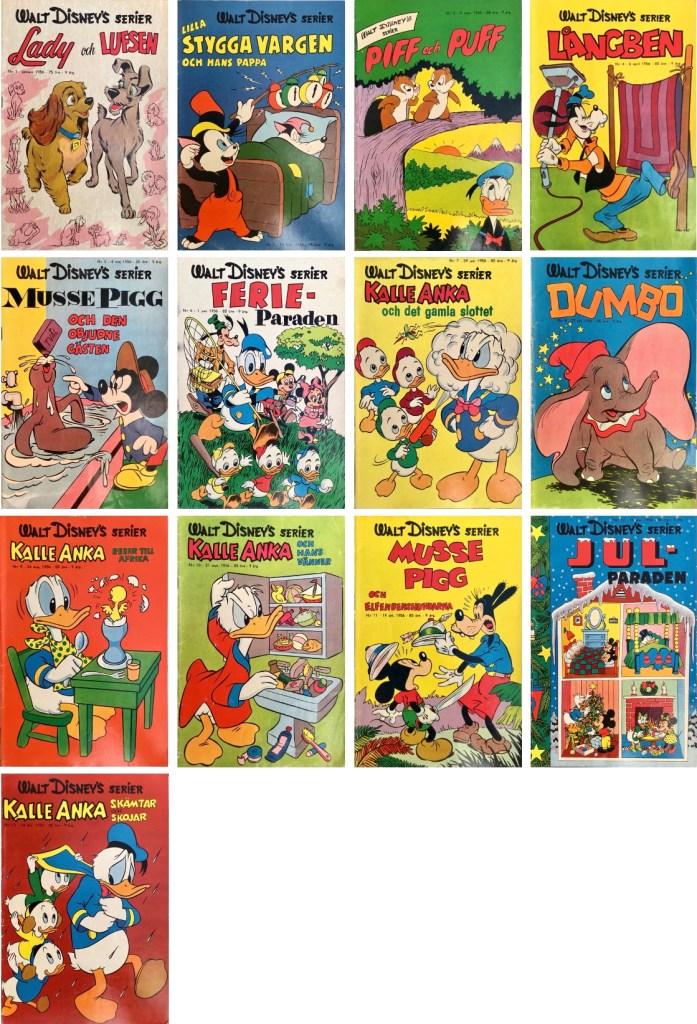 Omslag till Walt Disney's serier 1956. ©Richters/Disney