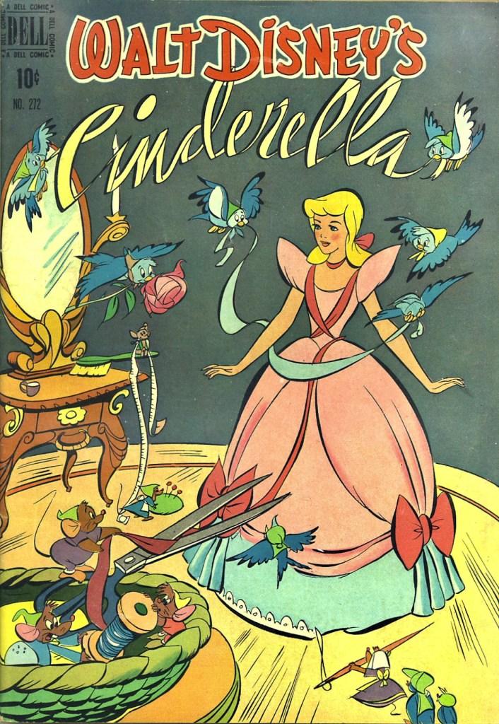 Omslag till Four Color Comic #272 (1950), Cinderella. ©Dell/Disney