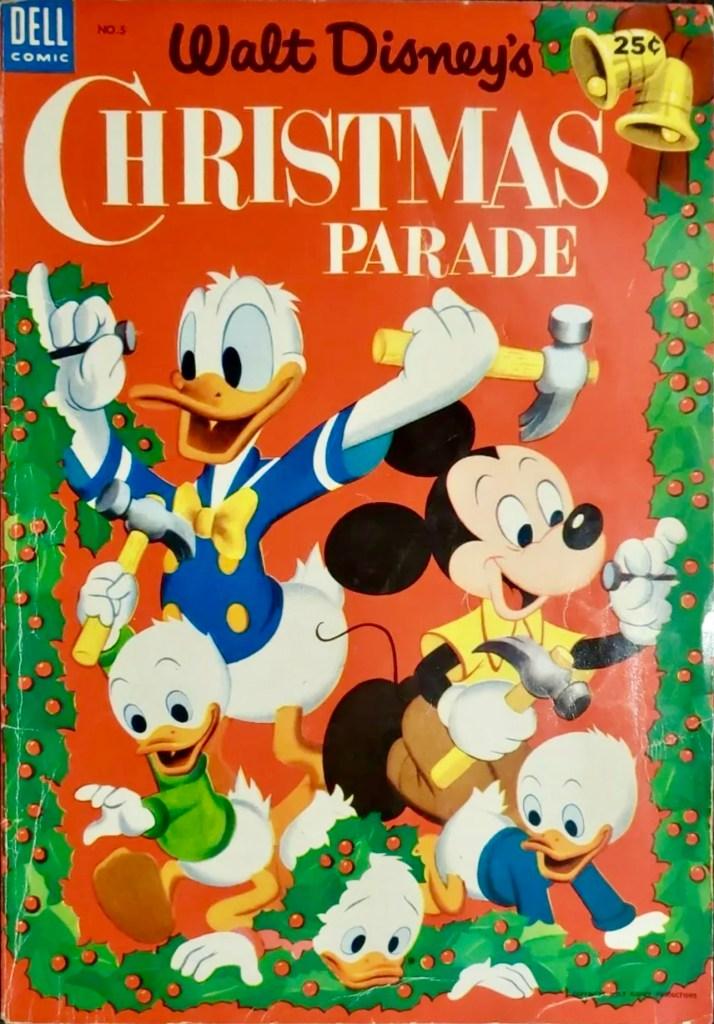 Omslag till Walt Disney's Christmas Parade #5 (1953). ©Dell/Disney