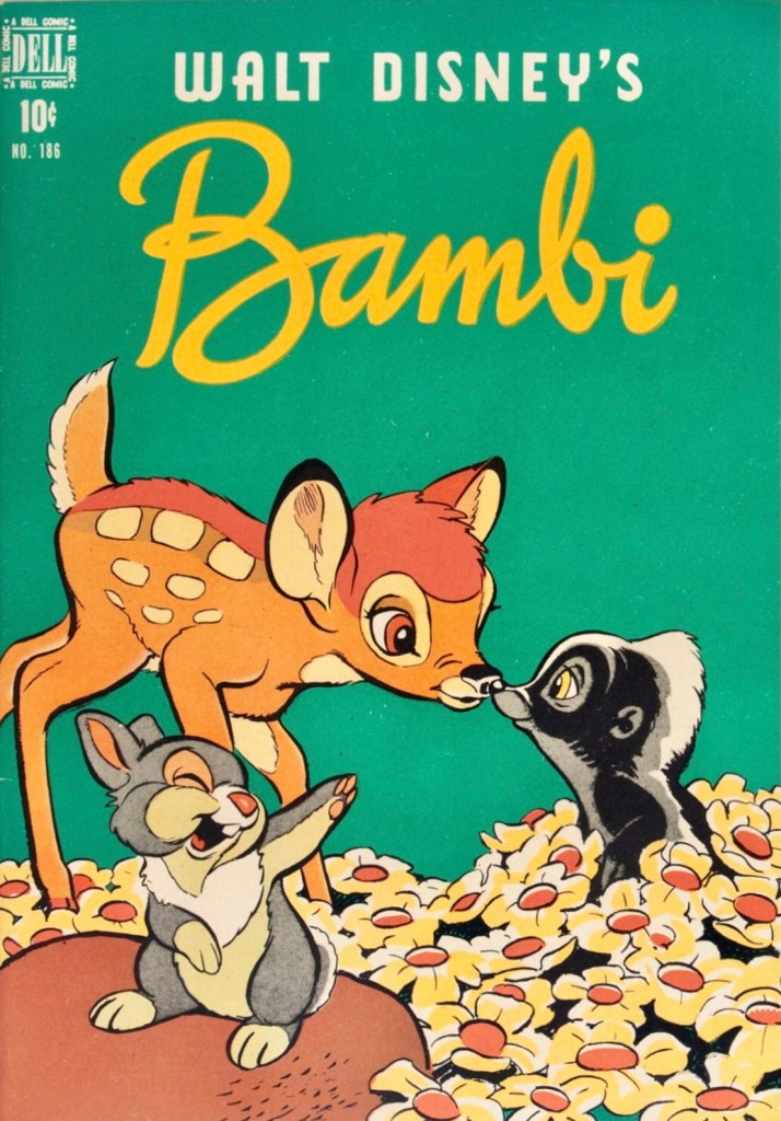 Omslag till Four Color Comic #186 (1948), Bambi. ©Dell/Disney