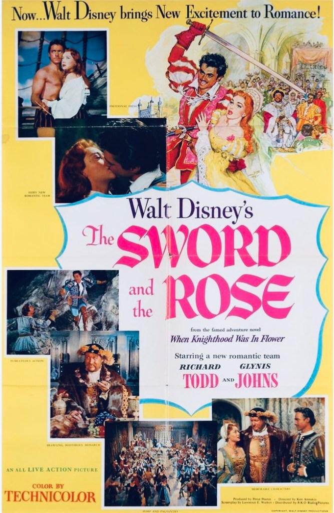 Filmaffisch från Walt Disney's The Sword and the Rose. ©RKO/Disney