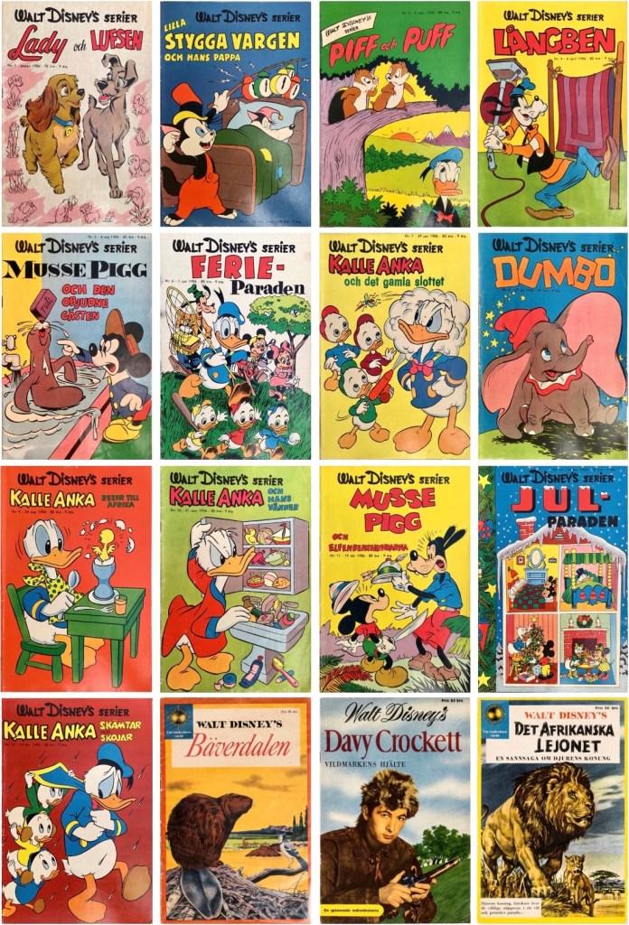 Omslag till Walt Disney's serier 1955. ©Richters/Disney