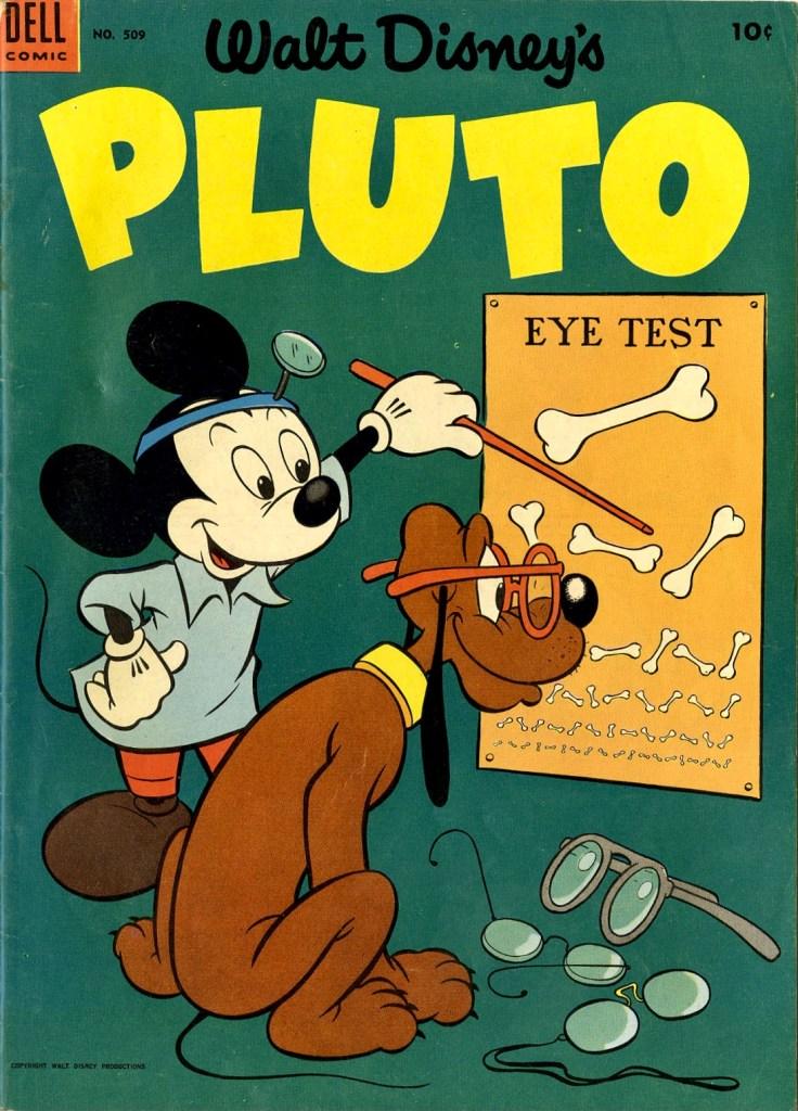 Omslag från Four Color Comic #509 (1953), Walt Disney's Pluto. ©Dell/Disney