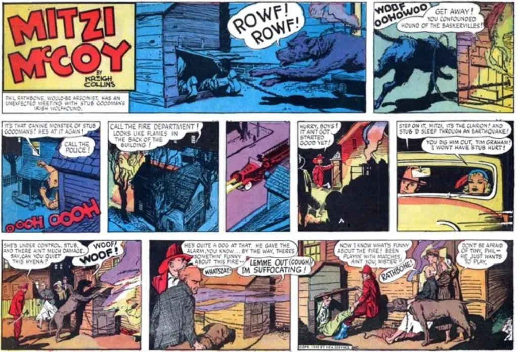 Upplösningen av episoden från 6 mars 1949. ©NEA/Picture This Press