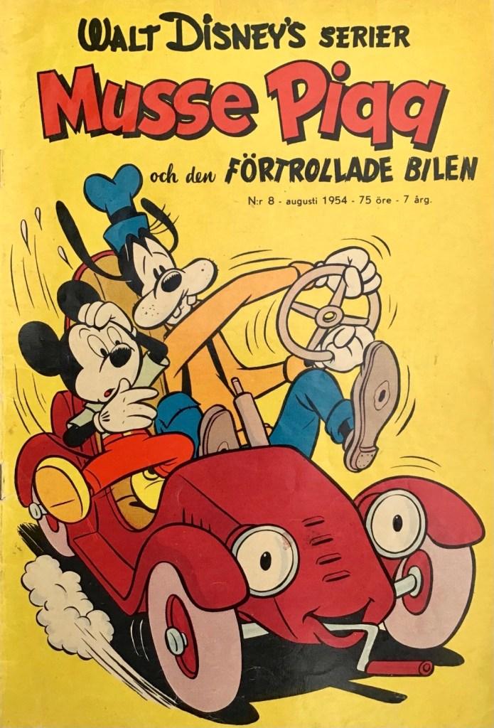 Omslag till Walt Disney's serier nr 8, 1954. ©Richters/Disney