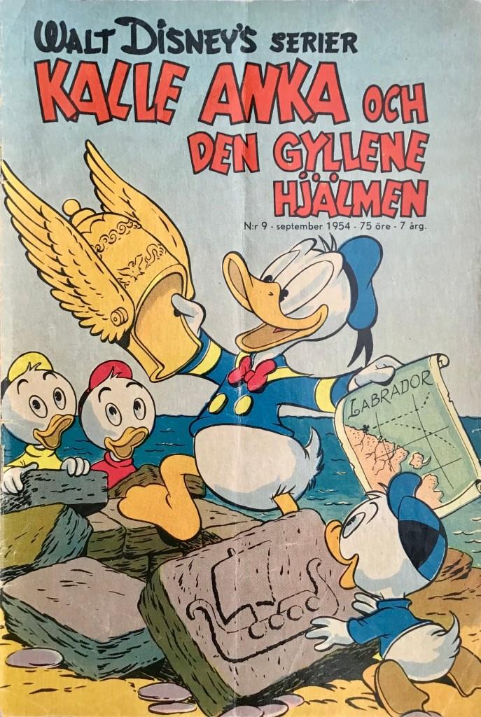 Omslag till Walt Disney's serier nr 9, 1954. ©Richters/Disney