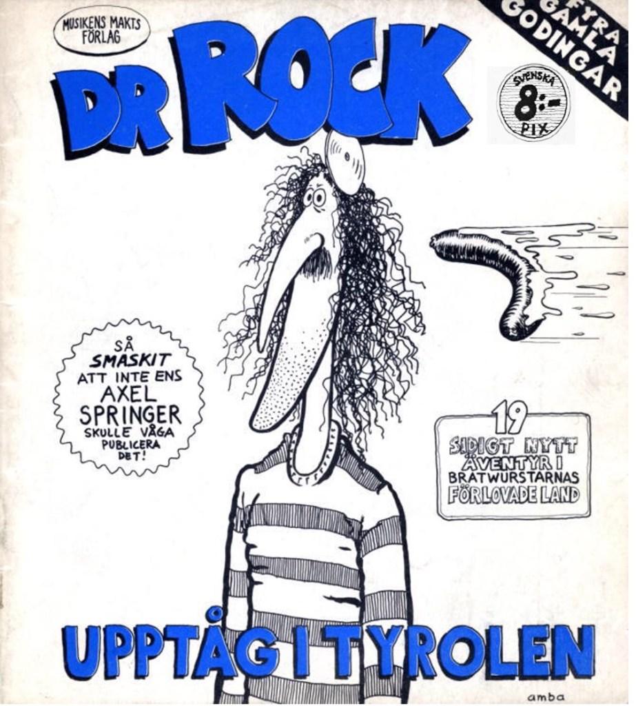 Omslag till Dr Rock, Upptåg i Tyrolen (1977). ©Musikens makt