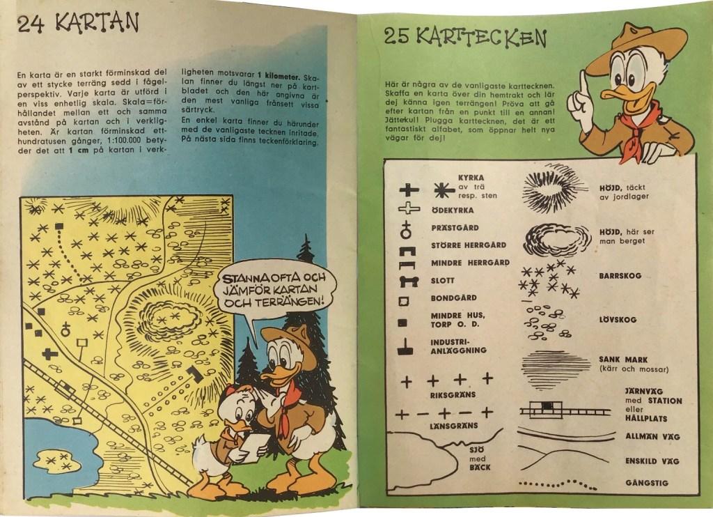 Sidan 24-25: Kartan, Karttecken. ©Hemmets Journal