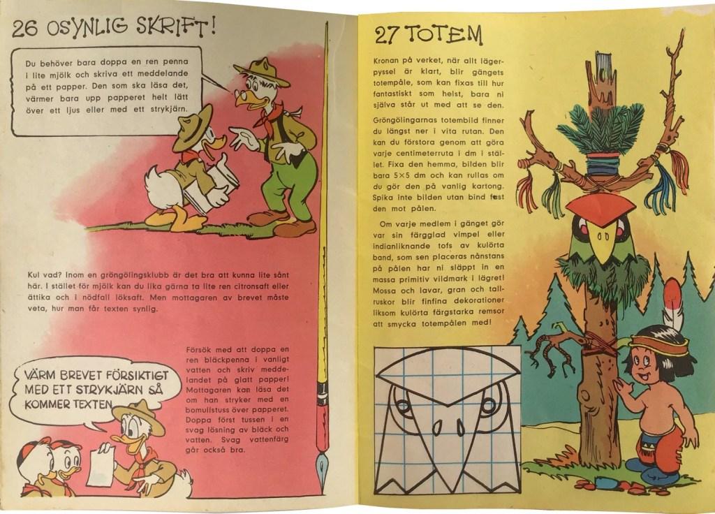 Sidan 26-27: Osynlig skrift, Totem. ©Hemmets Journal