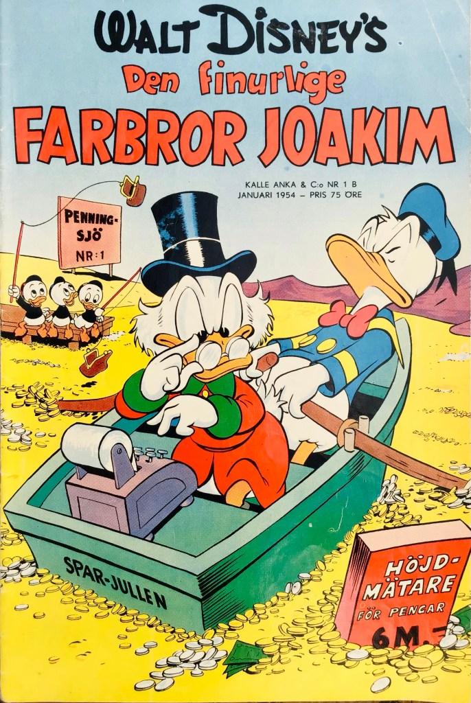 Omslag till Kalle Anka & C:o nr 1B, 1954. ©Richters/Disney