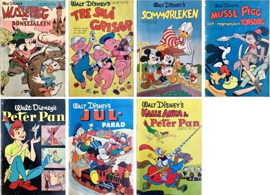 B-nummer av Kalle Anka & C:o 1953. ©Richters/Disney