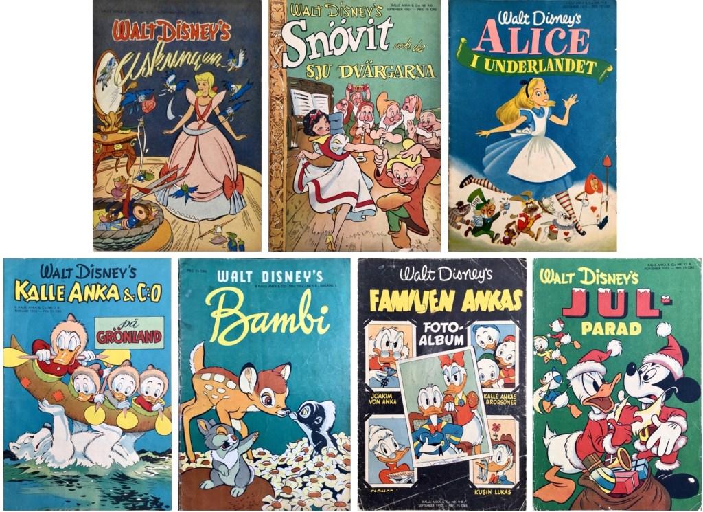 Det utkom sju B-nummer av Kalle Anka & C:o 1950-52. ©Richters/Disney