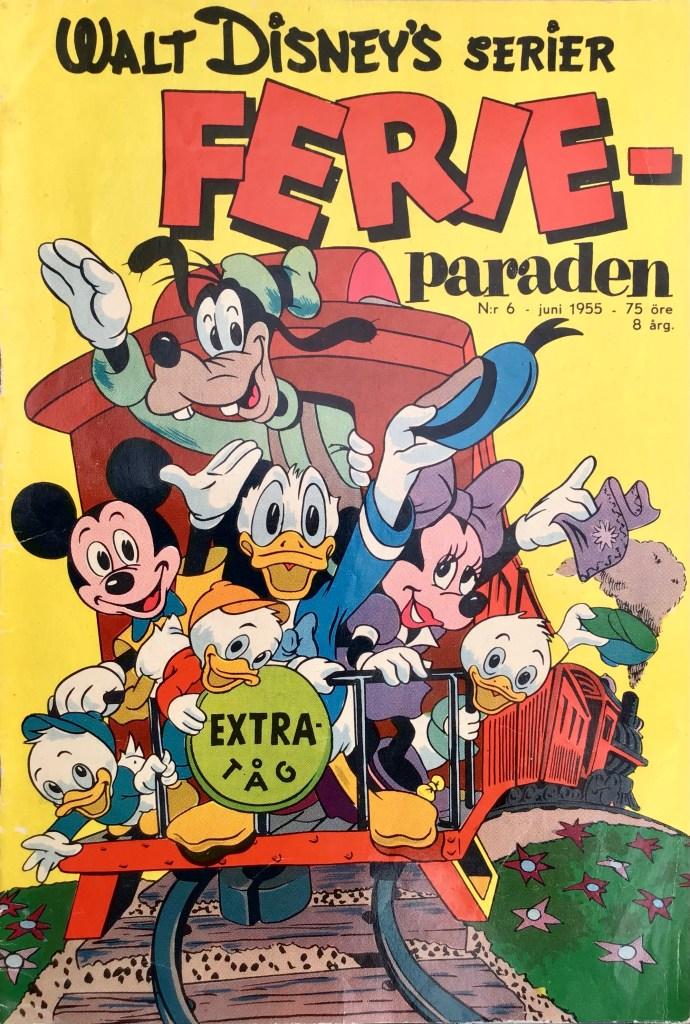 Omslag till Walt Disney's serier nr 6, 1955. ©Richters/Disney