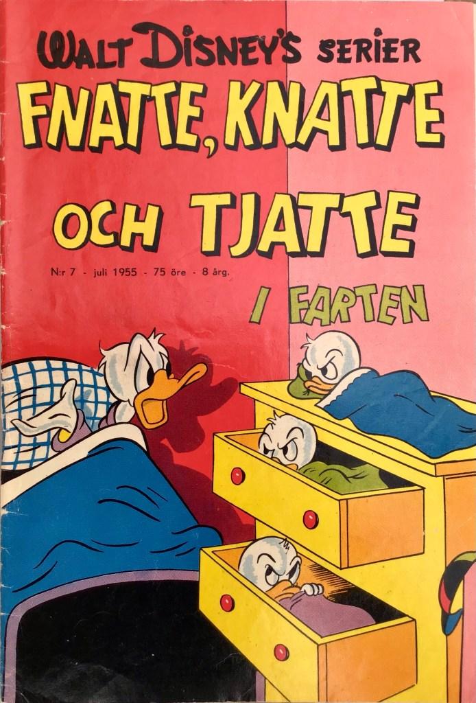Omslag till Walt Disney's serier nr 7, 1955. ©Richters/Disney