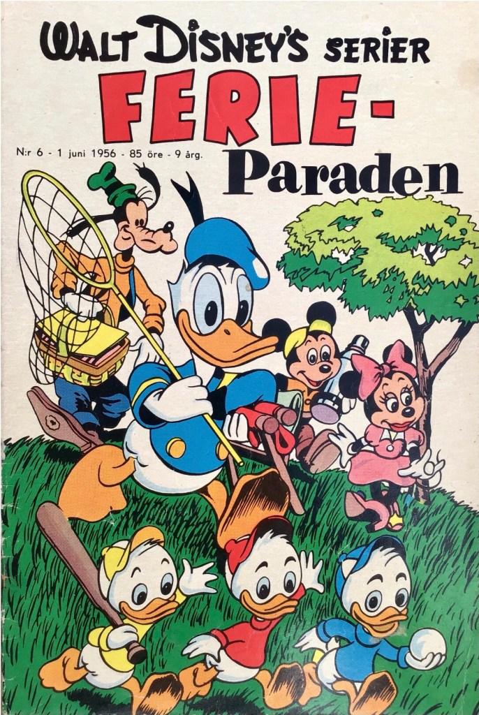 Omslag till Walt Disney's serier nr 6, 1956. ©Richters/Disney