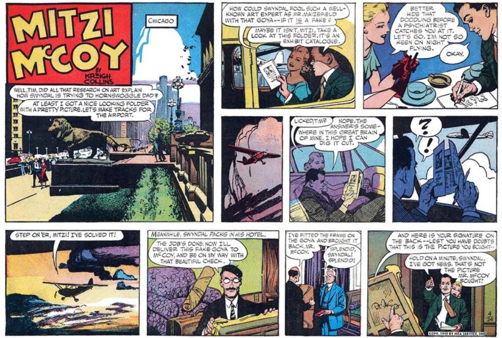 Söndagsstrippen med Mitzi McCoy från 24 april 1949. ©NEA/Picture This Press