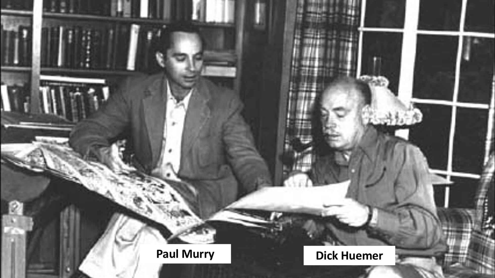 Paul Murry (t.v.) och Dick Huemer (t.h.)