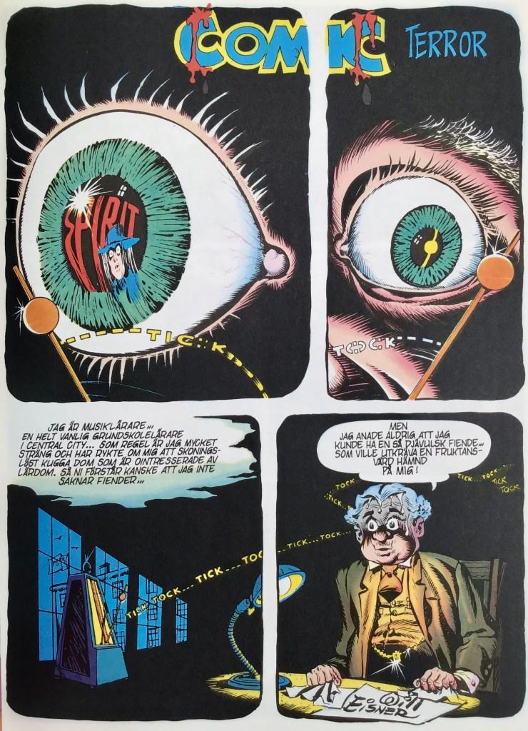 Inledande sida ur episoden Comic terror ©Eisner