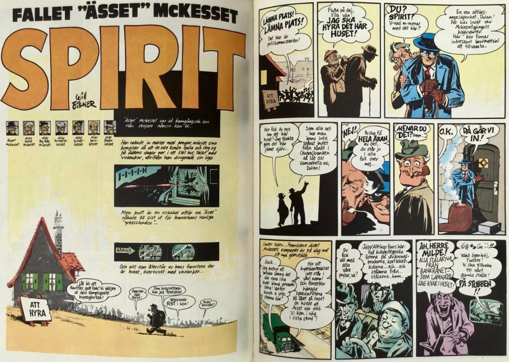 Inledande uppslag ur episoden Ässet McKesset, ur Spirit 2. ©Eisner