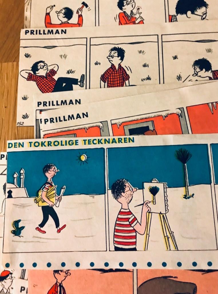 Serien gick även i VeckoRevyn, bland annat med titeln Prillman. ©PIB