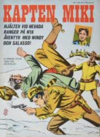 Omslag till Kapten Miki nr 2, 1964. ©Centerförlaget