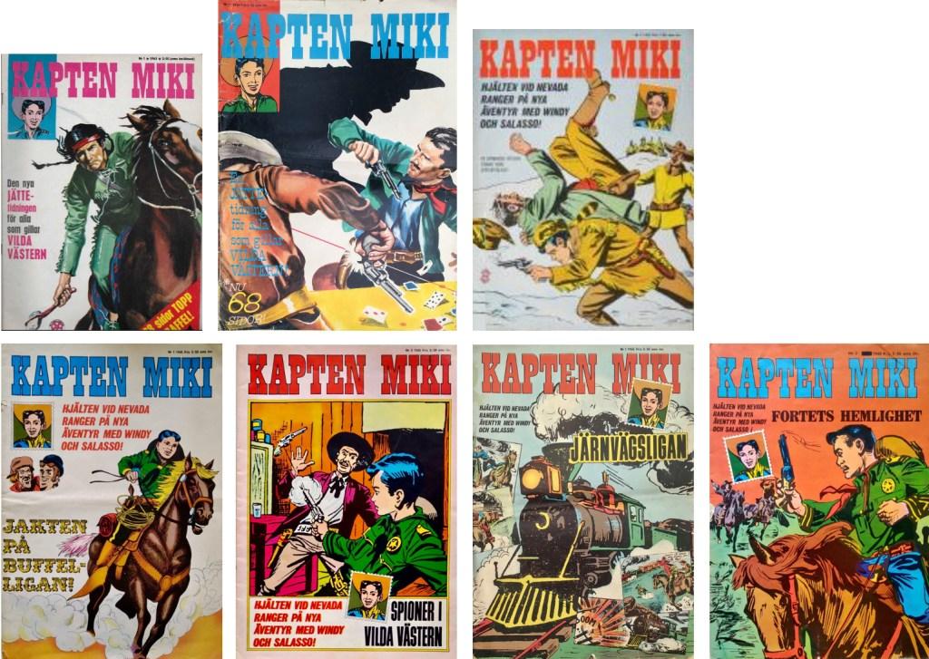 Det utkom sju nummer av Kapten Miki i storformat. (1962-64). ©Centerförlaget