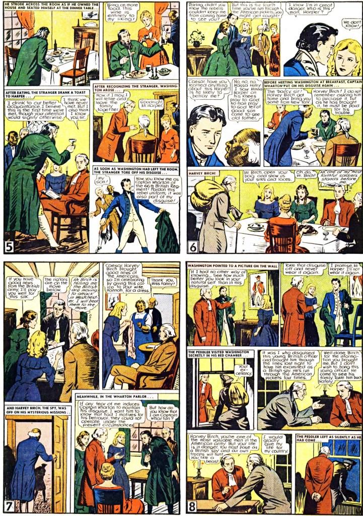 Motsvarande sidor ur Illustrated Classic-bilagan med The Spy, från 20 juli 1947. ©Gilberton
