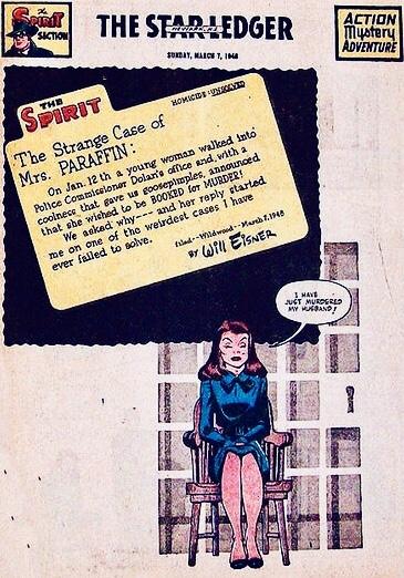 Inledande sida i original, från 7 mars 1948. ©Register&Tribune