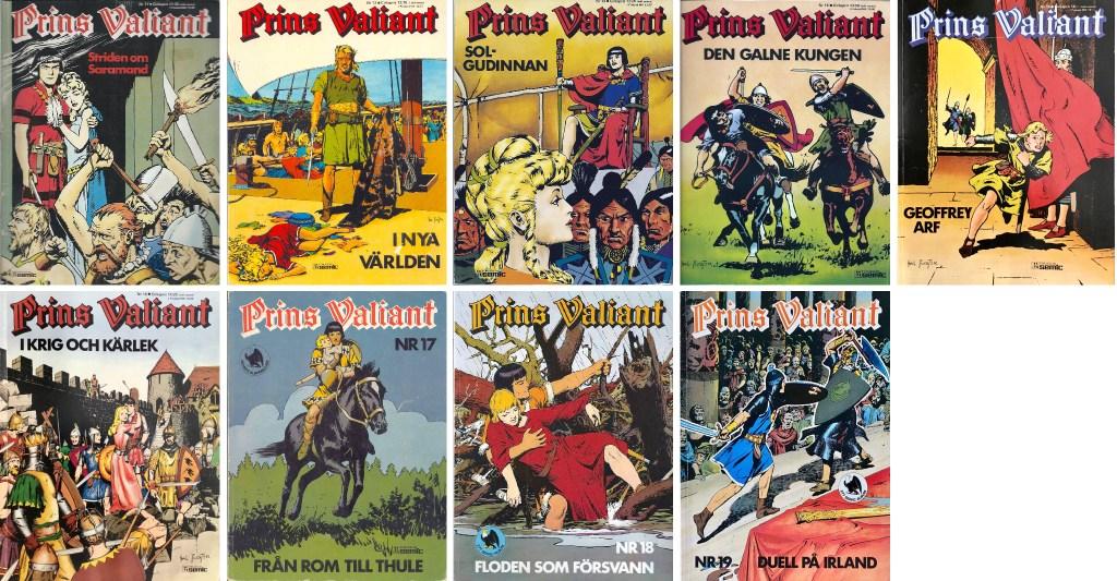 Prince Valiant-index: Prins Valiant seriealbum nr 11-19 (1977-81). ©Semic