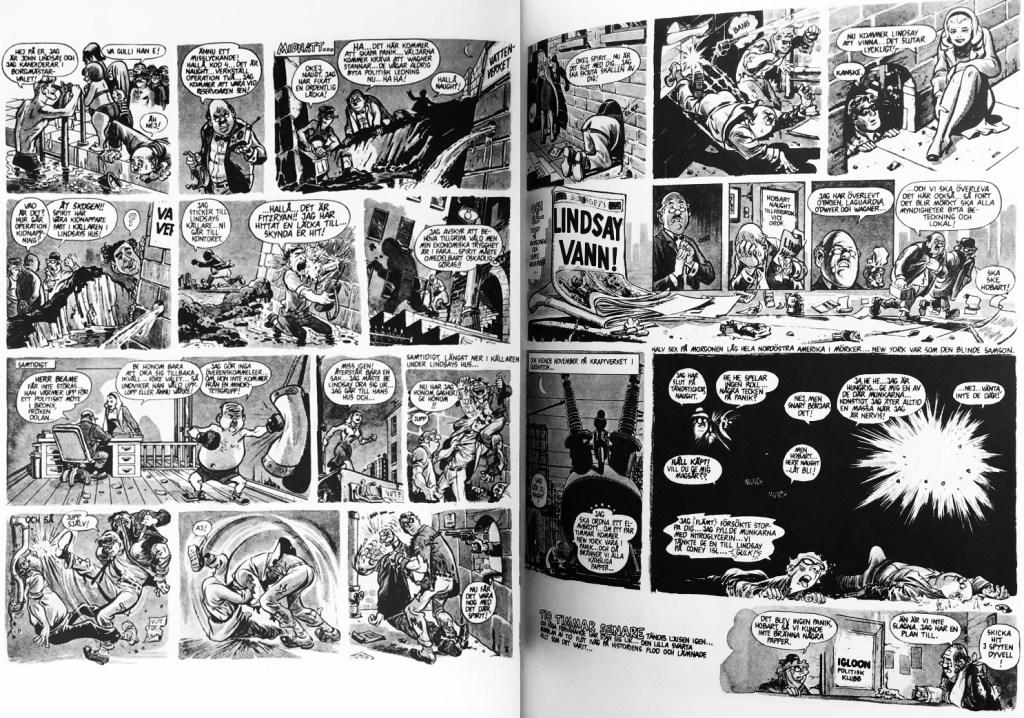 Ett till uppslag ur episoden Spirit (1966). ©Eisner